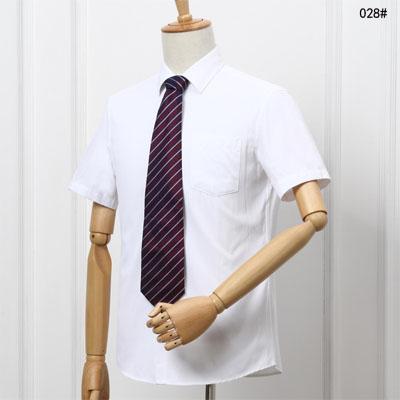 白色衬衣夏季短袖职业装衬衫男装工作服