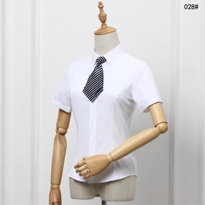 女士衬衣白色夏季半袖职业装衬衫工作服