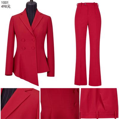 个性不对称西服定制时尚商务休闲女式西装