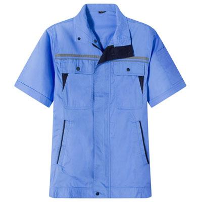 浅蓝工服定做工作服夏装短袖工衣