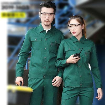 环保绿色工服定做工作服夏装长袖