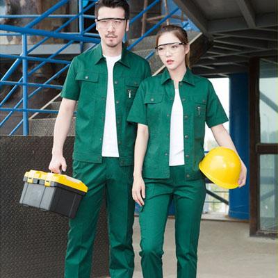 环保绿色定做工作服夏装工装