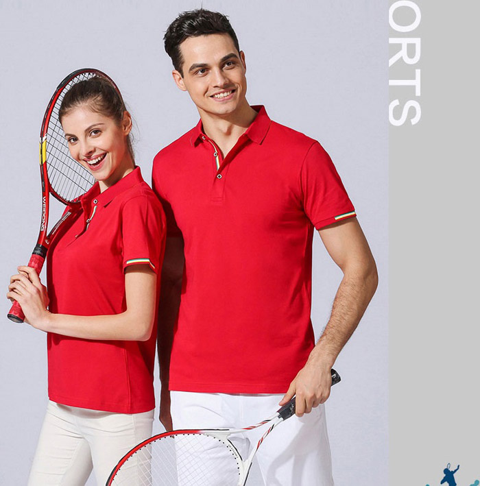 T恤POLO衫红色