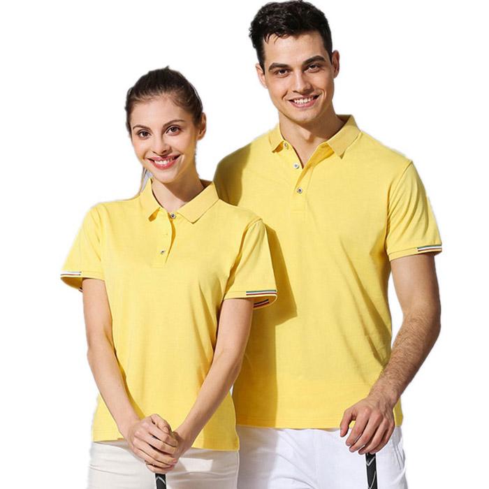 黄色T恤POLO衫