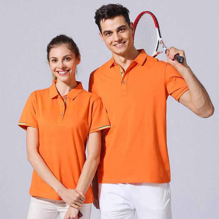 橙色T恤POLO衫