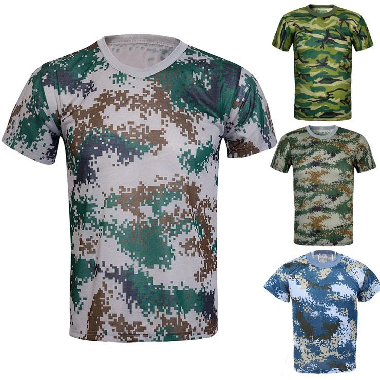 军训迷彩T恤款式图