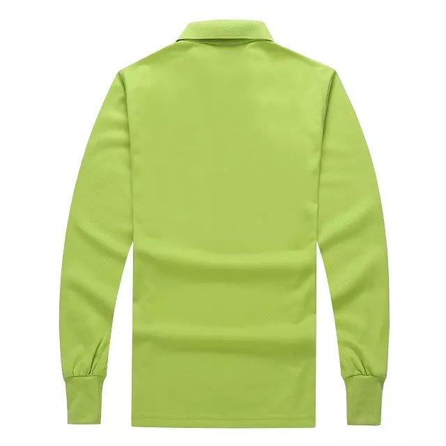 长袖POLO衫果绿色背后