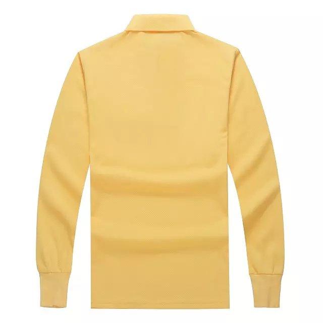 长袖POLO衫黄色背后