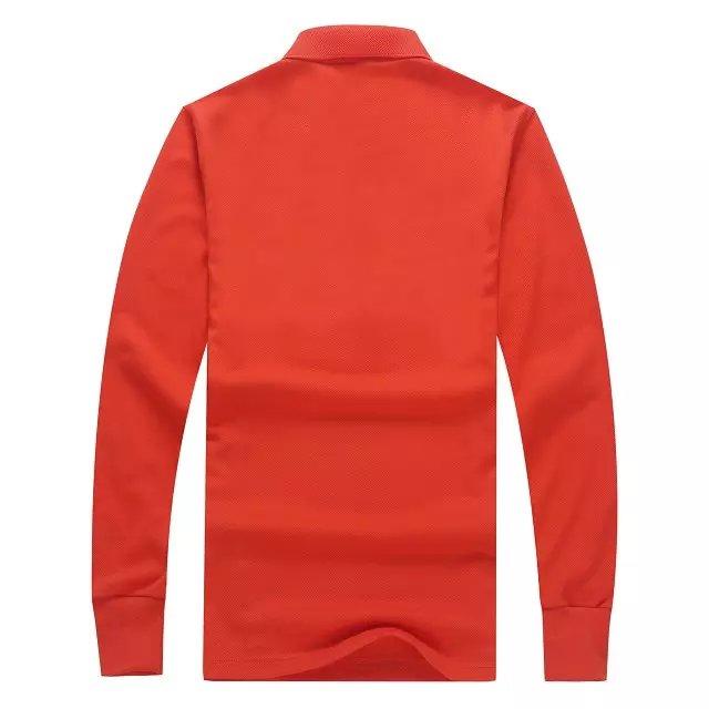 长袖POLO衫橙色背后