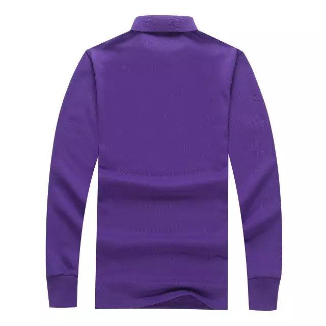 长袖POLO衫紫色背后