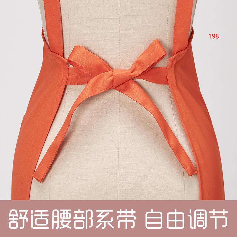 198款橙色围裙细节