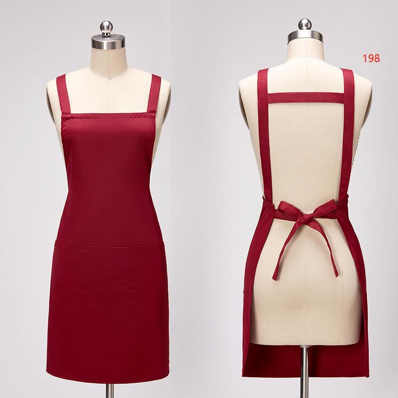 198款枣红色围裙