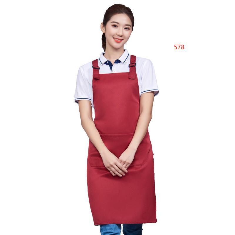 578款枣红色围裙