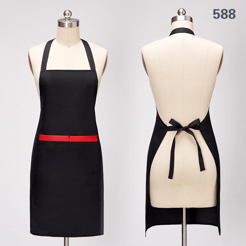 588款黑色围裙前后图
