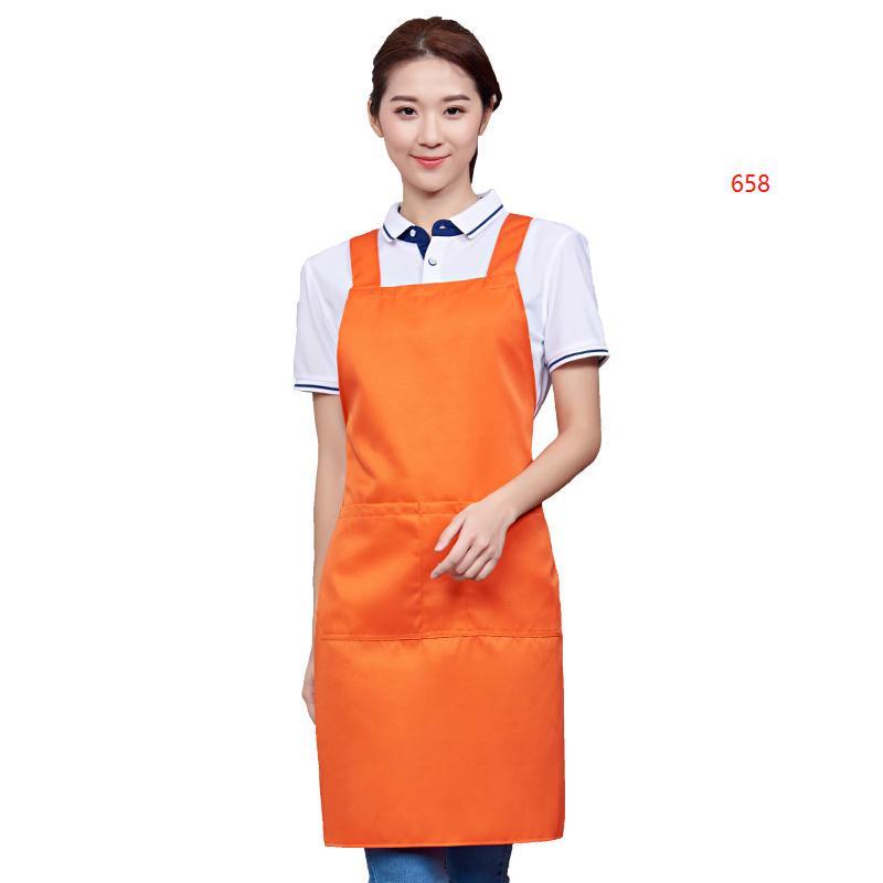 658款橙色围裙图