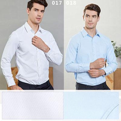 男装衬衫长袖白色蓝色工作服西裤都有