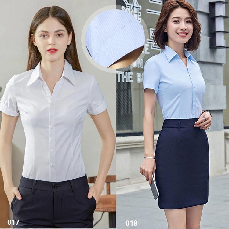 女短袖衬衫017018