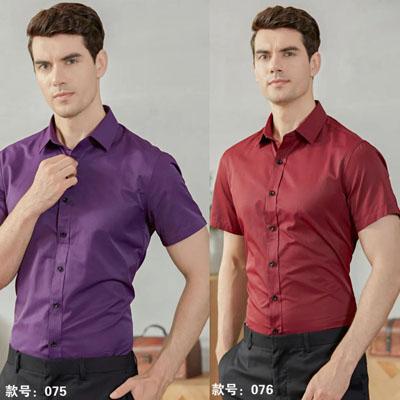 男装紫色枣红衬衫各种男女职业装
