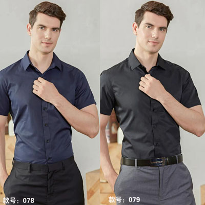 男士衬衣藏蓝黑色各种男女职业装