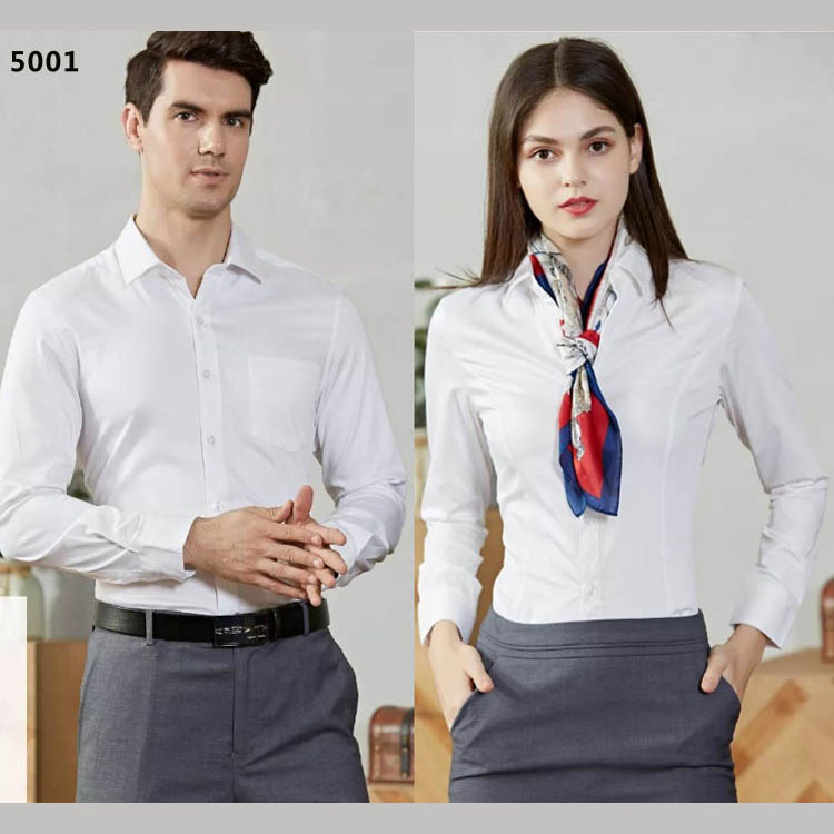 男女衬衫同款长袖5001