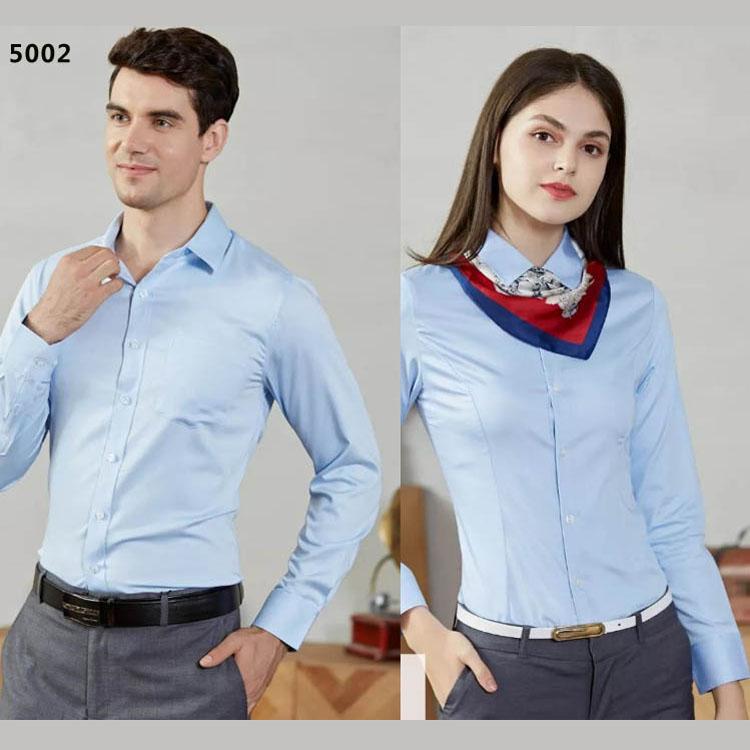 男女衬衫同款长袖5002