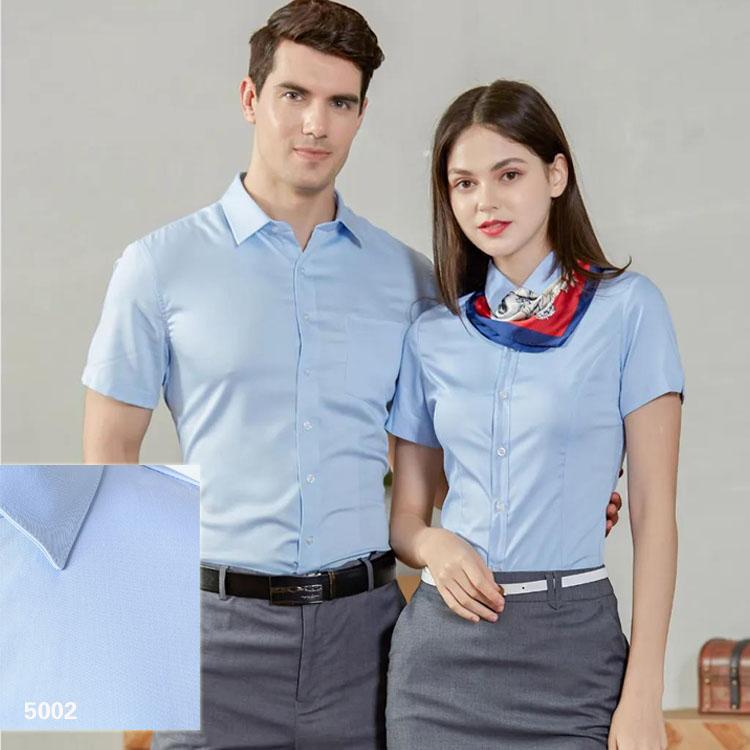 男女衬衫同款短袖5002