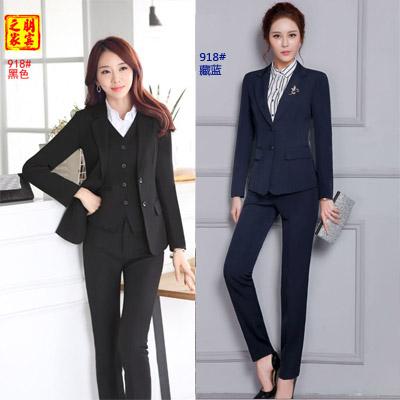 职业装女装西服套装现货供应