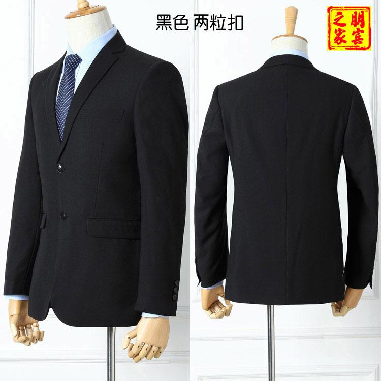 男士西服黑色795
