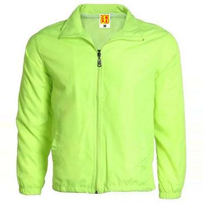 荧光绿色广告风衣定制工作服