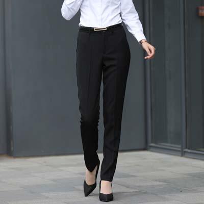 正装西裤女装裤子皮带耳黑色626款式