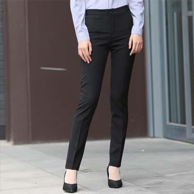 正装裤子女士小脚裤西裤无耳黑色627款式
