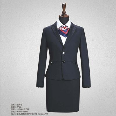 70毛料高端西服定制女士西装订做HY7001