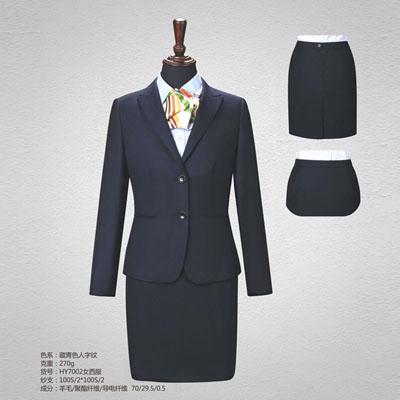 戗驳领70毛料高端西服定制女士西装订做HY7002