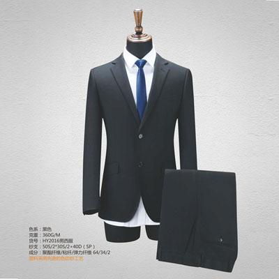 西服定制高端西装订做男士套装单西黑色HY2016