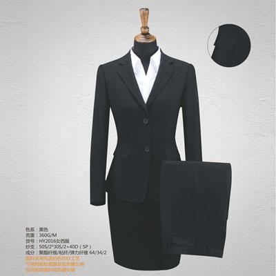 西服定制高端西装订做女装黑色双扣HY2016