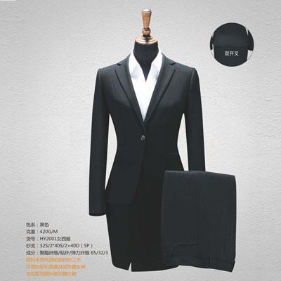 西服定制高端西装订做单扣女装双开叉黑色HY2001