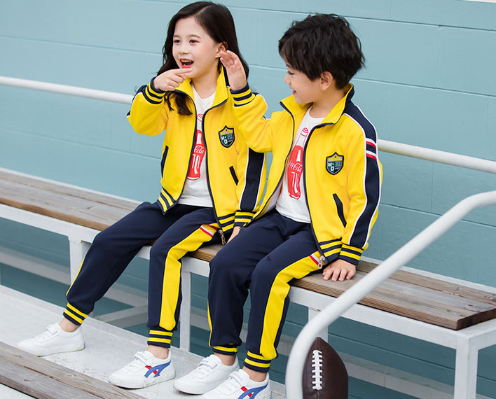 小学生校服两件套装图